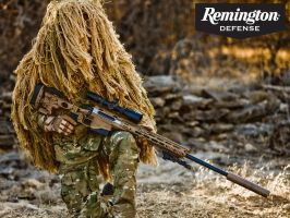 Remington MSR with Ghillie Sniper (Wallpaper) by Scarlighter