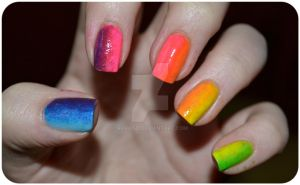 Rainbow- nails by ViiviASD