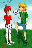 Art Trade - Kick About by EllenorMererid