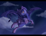 Darigan Kougra Night Flight by Zaxlin