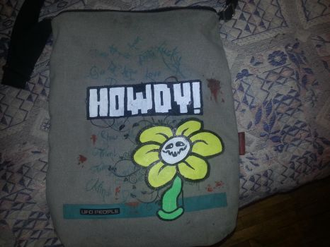 Flowey bag by YoungMadScientist
