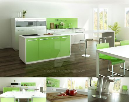 pyram kitchen by 3Dswed