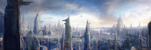 Futuristic City 4 by aaronsimscompany