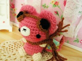 Captain Snyder - crochet amigurumi bear by hellohappycrafts