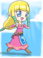 Skyward sword Zelda Chibi by ZantsDinner