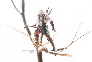 assassin's creed statue fully painted ones by STONELEFT