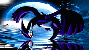 Shadow Lugia Wallpaper by SmileyFace0123