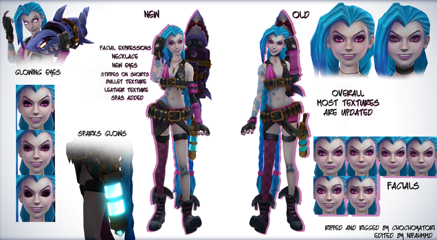 Jinx - League of Legends MMD by NipahMMD