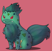 Pokemon fusion: Ivylithe by ice-cream-skies
