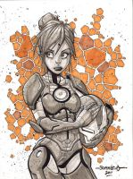Pepper Potts :: Sketch 01 by Red-J