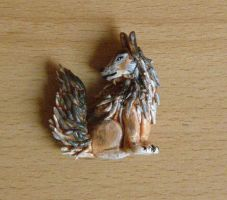 Wolf pendant by Efirende