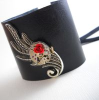 La Belle Rose - Steampunk Cuff by Nite0wlStudios