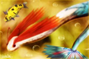 Dive with Feebas and Milotic by thundaflare