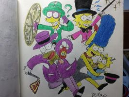 The simpsons:Batman villain familys. by komi114