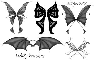 Wing Set 3 Photoshop Brushes by seiyastock