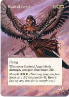 MTG Altered Card_Exalted Angel by GhostArm1911