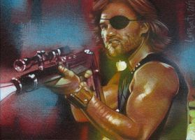 Snake Plissken 2 - Sketch Card by JeffLafferty