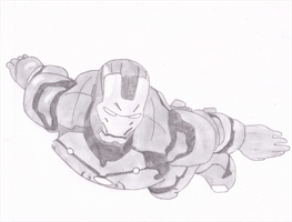 Iron Man Flying by TLema