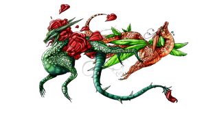 Floradragons - Rose and Wisteria - Contest entry by Fucal