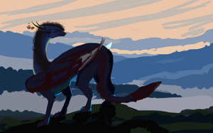 Watching the sunrise - WIP by Anoroth