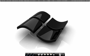Glossy Black Desktop by CPzer0
