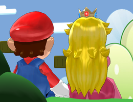 Peach and mario by Princess-Peach-64