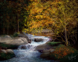 Smoky Mountain Stream by ghost549