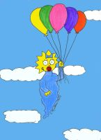 Maggie Simpson--UP by the-sashimi-frog