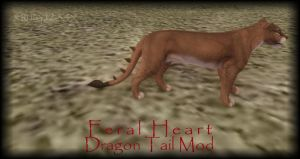 NEW TAIL - FERALHEART - DRAGONTAIL MOD by xRuby1234x