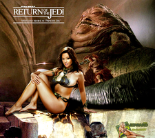 Leah Remini|Princess Leia Slave|Jabba The Hutt by c-edward