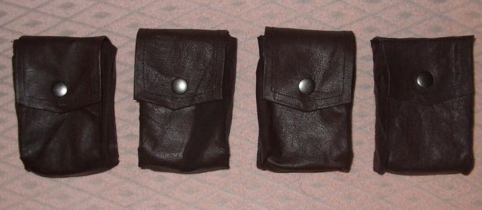 LP2 Mercenary leather pouches by IkasuTaiki