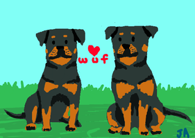 Rottie Love by JaneAtlas