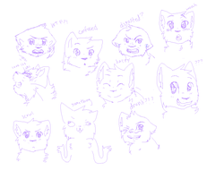 Expressions thing for Hope by WolfehKitteh