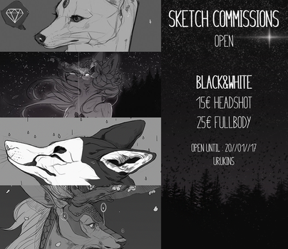 Sketch Commissions - OPEN by urukins