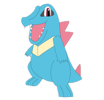 Totodile by SkulblakaShurtugal