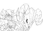Anime Style Skeletor Perspective Line art by JazylH