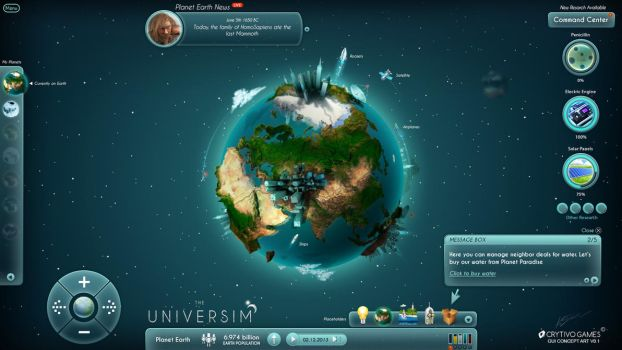 The Universim Game UI Concept by Koshelkov