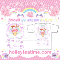 Kawaii ice cream t-shirt by miemie-chan3