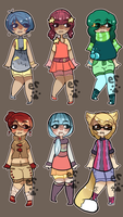 Sheet of Six Adopt Set [ closed ] by Enki-Ri