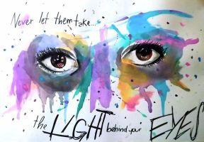 The Light Behind Your Eyes by sara-moschini