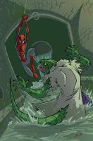 spiderman vs the lizard colors by natelovett