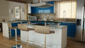 kitchen in blue by George-streets