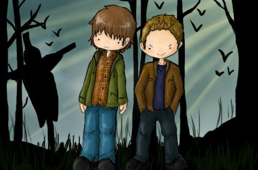 Sammy and Dean by DarkenConfusion