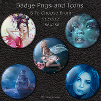 Badge Icons by chamirra