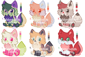 Puppies Adopt Batch 1 - CLOSED by Adorabubble-Adopts
