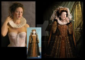 Elizabeth I before and after by babsartcreations