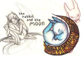 original rabbit in the moon by curry23
