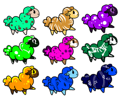 Sheep Adoptables by Aevaln