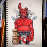 Hellboy by x-catman