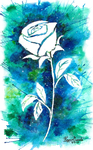 Abstract Blue Rose by Rozen-Guarde